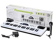 Синтезатор с микрофоном, для детей, HS4916B, фото