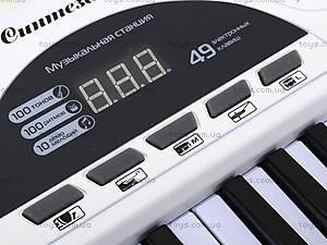 Синтезатор с микрофоном, для детей, HS4916B, детские игрушки