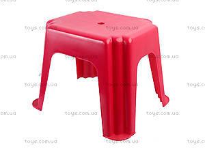 Табурет прямоугольный, красный, ПХ4570 КРАСН, фото