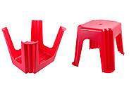 Табурет прямоугольный, красный, ПХ4570 КРАСН, магазин игрушек