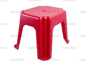 Табурет прямоугольный, красный, ПХ4570 КРАСН, цена