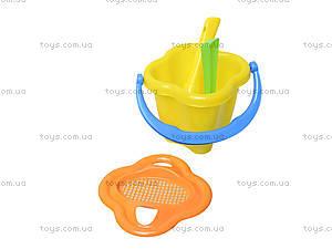 Детская тачка с лодочкой и песочным набором, 01-127, toys.com.ua