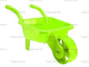 Тачка садовая с песочным набором, 01-124, детские игрушки
