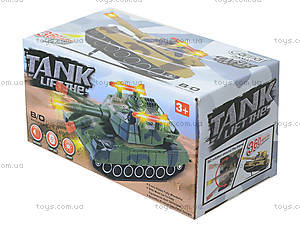 Детский танк с подсветкой и звуковыми эффектами, 2016C, игрушки
