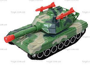 Детский танк с подсветкой и звуковыми эффектами, 2016C, детские игрушки