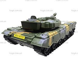 Танк инерционный с аксессуарами, K773, игрушки