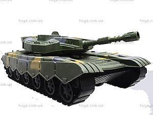 Танк инерционный с аксессуарами, K773, toys
