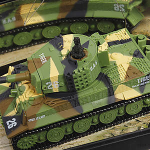 Танк микро радиоуправляемый 1:72 Tiger, GWT2117-3, детские игрушки