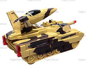 Музыкальный танк-трансформер, LD-668A, детские игрушки