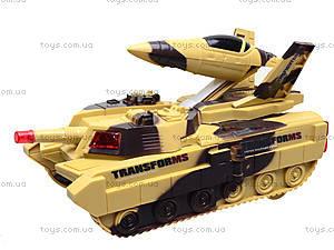 Музыкальный танк-трансформер, LD-668A, магазин игрушек
