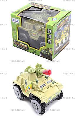 Музыкальный танк-перевертыш со светом, 337-20