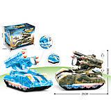 Танк игрушечный со светом 2 вида, 373-27A, детские игрушки