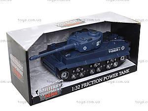 Инерционный танк на батарейках, 360-10, детские игрушки