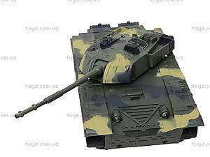 Детский танк инерционный с эффектами, 360-11, игрушки