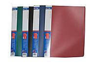 Папка пластиковая для файлов А4 на 20 файлов, ассорти, A302, купити