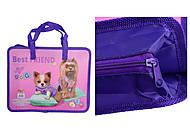 """Папка пластиковая с текстильными ручками """"Собачки"""", 7474, toys.com.ua"""