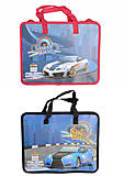 """Папка пластиковая с текстильными ручками """"KIDIS"""", серия Street Racing, 2 вида, 7476, toys"""