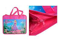 Детская папка портфель А4 Kidis Princess, пластиковая, на замке, с ручками, 7155, отзывы