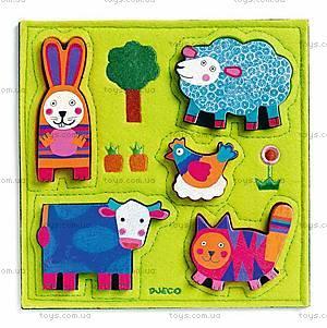 Текстильный пазл «Веселая ферма», DJ01040