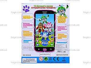 Интерактивный телефон «Поли Робокар», 16336-2B, отзывы