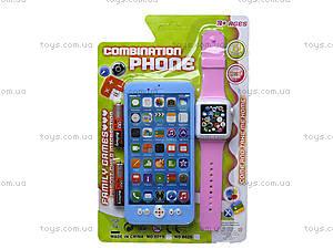 Телефон мобильный с часами, 8029, купить