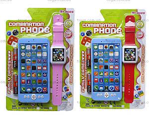 Телефон мобильный с часами, 8029