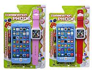 Телефон мобильный с часами, 8029, фото