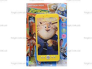 Детский мобильный телефон «Zootopia», 8017, детские игрушки