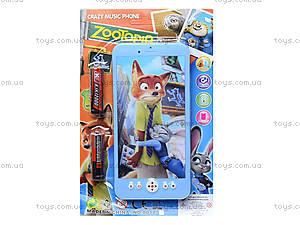 Детский мобильный телефон «Zootopia», 8017, магазин игрушек