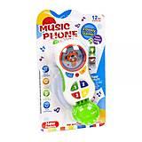 Телефон музыкальный «Мишка» бело-зеленый, CY1013-4C, детские игрушки