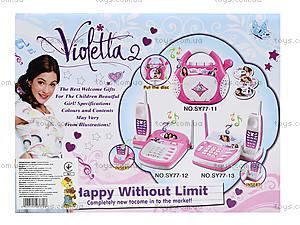 Телефон музыкальный Violetta, SY77-12, игрушки