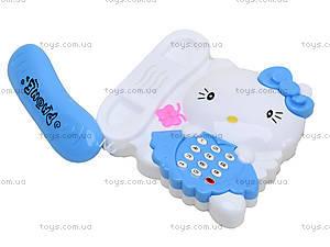 Игрушечный телефон с трубкой Hello Kitty, 988-2, фото
