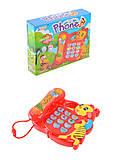 Игрушка музыкальный телефон Пчелка, 66015, опт