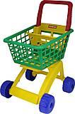 Тележка для маркета зелено-желтая, 7438-1, фото
