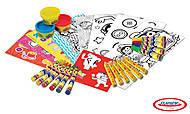 Тележка PLAY-DOH с пластилином и маркерами, CPDO148