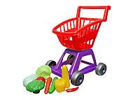 Тележка с овощами, 11 предметов (красная), KW-36-003, игрушки