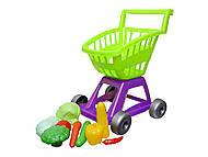 Тележка с овощами салатовая, KW-36-003, детские игрушки
