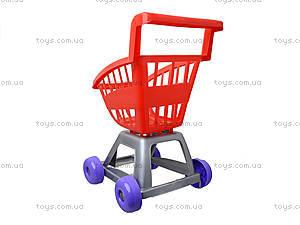 Игрушечная тележка «Супермаркет» в ассортименте, 36-001, фото