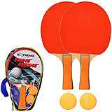 Теннис настольный Extreme Motion, 2 ракетки, 2 мячика в чехле, TT2116, опт