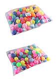 Теннисные мячики цветные 40мм (140шт в пакете), BT-PPS-0033Ц, доставка