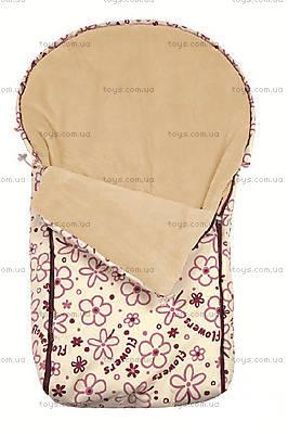 Теплый непромокаемый конверт Cocoon, молочний, 0166-2