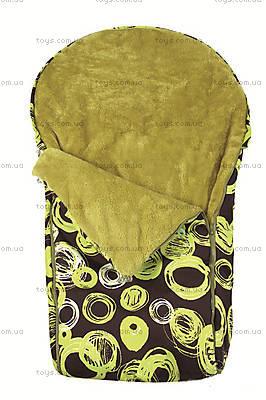 Теплый непромокаемый конверт Cocoon, зелений, 0166-52