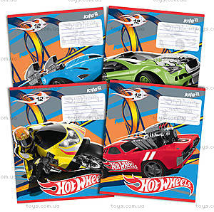 Тетрадь 12 листов Hot Wheels, HW14-234K