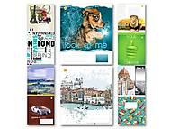 """Тетрадь 60 листов, в линию """"Микс"""", 10 видов, 10 штук в упаковке, ТЕ92680, toys.com.ua"""