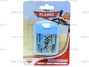 Точилка с 2 отверстиями «Самолеты», PLBB-US1-221-BL1