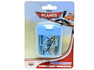 Точилка с 2 отверстиями «Самолеты», PLBB-US1-221-BL1, купить