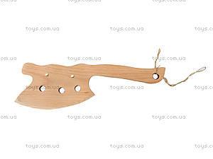 Игрушечный деревянный топор, 35 см, 238-06-08у, игрушки