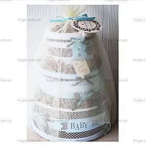 Торт из памперсов для мальчика Baby Boy, PPC03, фото