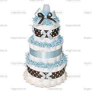 Торт из памперсов для мальчика Blue Chocolate, PPC06