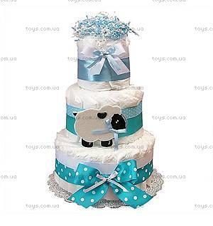 Торт из памперсов для мальчика Blue Sheep, BH08